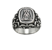 Custom Sterling Silver Initial Ring - A