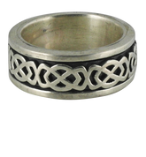 Traditional Irish Celtic Knot Spin Band in Sterling Silver