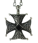 Badass Onyx Spanish Cross Pendant for Men and Women