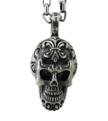 Unique and Original Sugar Skull Pendant in Sterling Silver