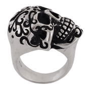 NEW - Larger Than Life Unique Biker Skull Ring in Sterling Silver