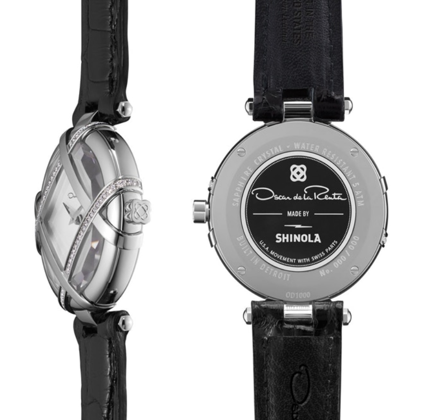 The Lattice by Shinola womens watch inspired by Oscar de la Renta