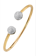 Marco Bicego Africa Gold Bangle in 18kt Gold with Pave Diamonds