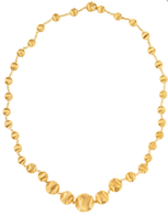 "Marco Bicego Africa Gold 16"" Graduated Necklace in 18kt Gold"