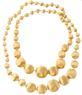 "Marco Bicego Africa Gold 36"" Graduated Necklace in 18kt Gold"