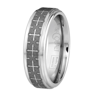 Scott Kay Devotion Wedding Band Stippled Cross
