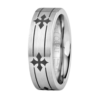 Scott Kay Devotion Wedding Band Intermittent Crosses