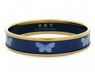 HALCYON DAYS BUTTERFLY ON NAVY