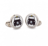 HALCYON DAYS HACKNEY CAB ROUND CUFFLINKS