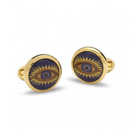 HALCYON DAYS GLADYS DEACON ROUND CUFFLINKS