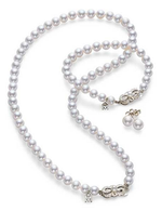 Mikimoto Everyday Essentials Collection 18K White Gold Pearl Necklace