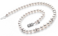 Mikimoto 18'' Strand with Diamond Rondels - White Gold Clasp