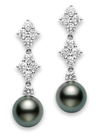 Mikimoto Classic Elegance Black South Sea Long Earrings