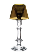 BACCARAT HARCOURT OUR FIRE CANDLESTICK GOLD AND CLEAR