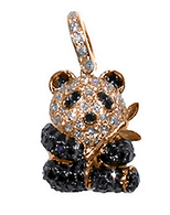 Aaron Basha 18K Rose Gold Panda with Bamboo