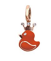Aaron Basha 18K Rose Gold Rubber Duckie with Crown