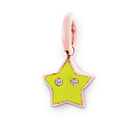 Aaron Basha 18K Rose Gold Yellow Star Charm (Medium)