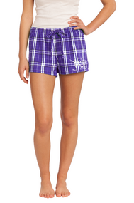 PRIMA DANCE FLANNEL PURPLE PLAID BOXER