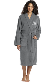 PRIMA DANCE DEEP SMOKE MICROFLEECE ROBE