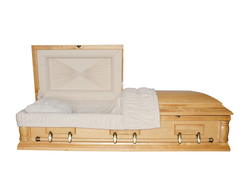 Silver Birch With Velvet Interior Casket