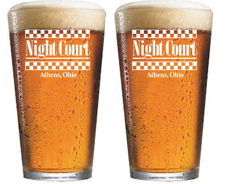 Night Court Pint Glasses - Set of 2