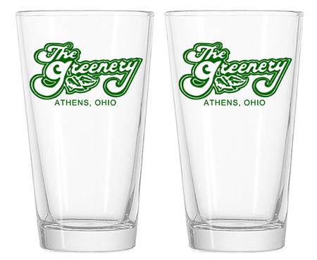 The Greenery Pint Glasses