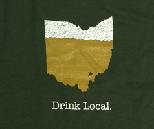 Drink Local Athens Ohio T-Shirt, detail