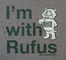 I'm With Rufus Ohio University t-shirt, detail