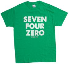 Seven Four Zero (740) Athens Ohio Area Code T-Shrit