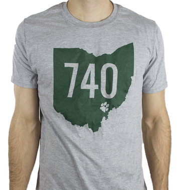 740 Athens Ohio Pawprint T-Shirt