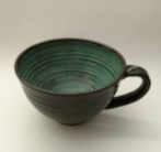 Soup Bowl shown in Turquoise inside and Turtle Shell outside. Available Soup Bowls: Small - 2 cup - $20.00 Large - 3 cup - $27.00