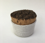 "Canister with Cork Lid is 2.5"" x 3.5"""