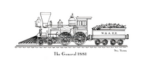 Train - General 1881 Engine Only Black & White