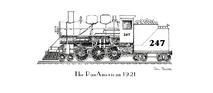 Train - Pan American 1921 Engine Only Black & White