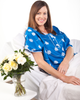 The Daisies Gorgeous Hospital Gown feels like a pair of high quality designer pajamas.