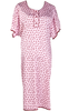The pink polka dot Gorgeous Hospital Gown - full back coverage, easy access with snap lock fasteners, pockets for personal items - everything you need for your hospital visit.