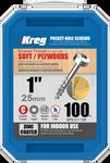 "Kreg Zinc Pocket-Hole Screws 1"", #7 Coarse, Pan-Head, 100 Count (SPS-C1-100)"