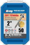 "Kreg Zinc Pocket-Hole Screws 2"", #8 Coarse, Washer-Head, 50 Count (SML-C2-50)"