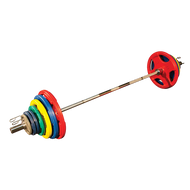 Body Solid Colored 455# Rubber/hand grip Olympic Plates ORCT455