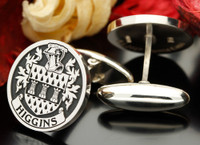 example silver engraved cufflinks