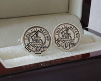 MacFarlane Crest Design Style 3 for Round Cufflinks.  Full range of designs available at www.customwaxnseals.net