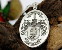 SCHLAGER Engraved Pendant design, also available in Silver Cufflinks, other designs also available, full customised.