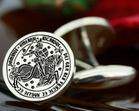 Cufflinks Great Seal of Richard III Personalised Reproduction design - Positive Engraving