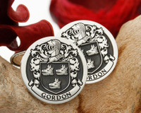 Gordon Family Crest Silver Cufflinks