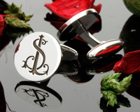 SL LS Monogram Silver Cufflinks handmade