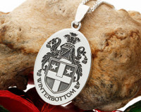 Winterbottom Family Crest Silver Pendant