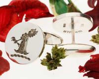 Corner Family Crest Silver Cufflinks