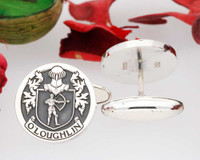 O'Loughlin or Loughlin Family Crest Cufflinks