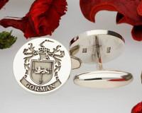 Gorman Family Crest engraved cufflinks