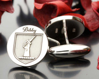 Bibby Family Crest cufflinks - other design choices available
